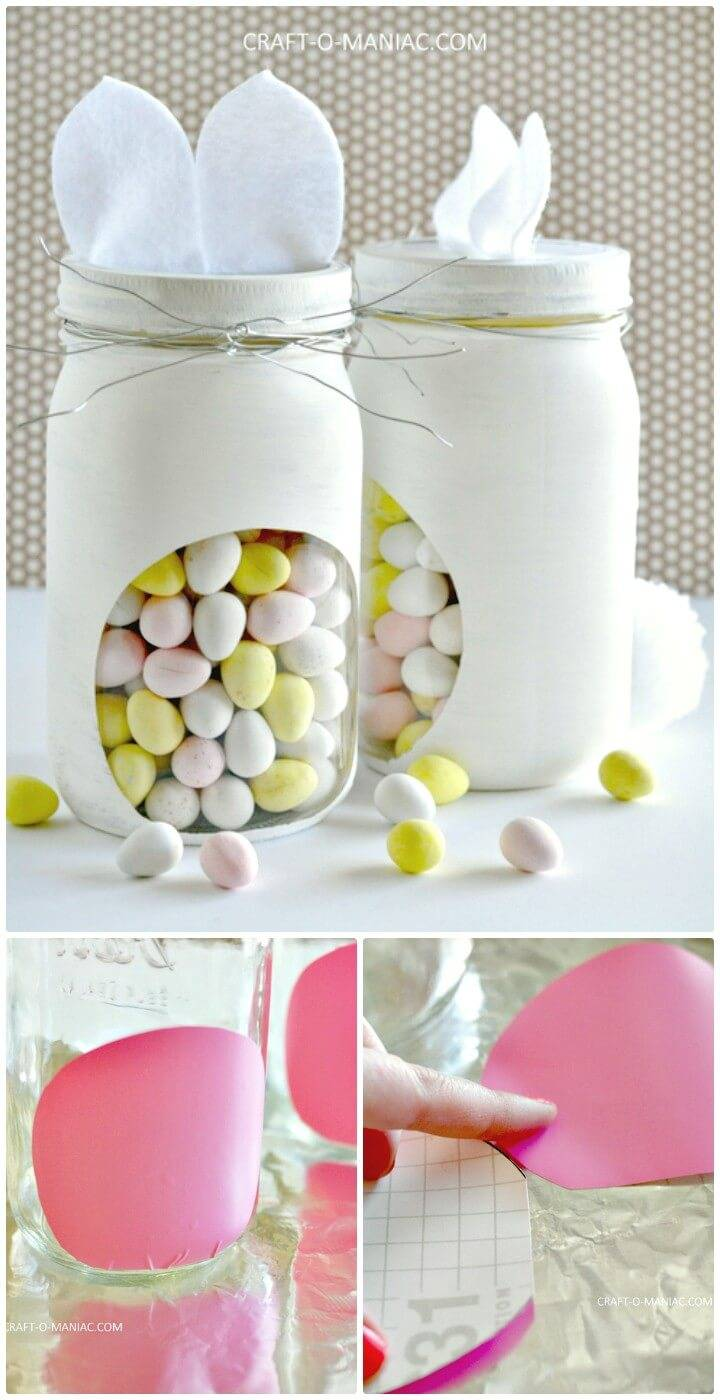 Make Your Own Bunny Candy Jars - DIY Mason Jars Crafts