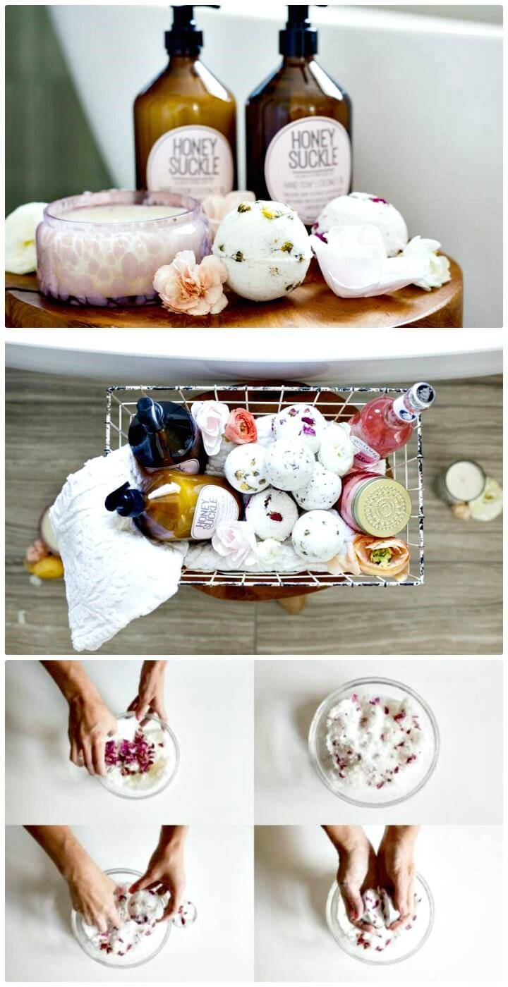How to Make Your Own Floral Bath Bombs - Handmade Touch Tutorial