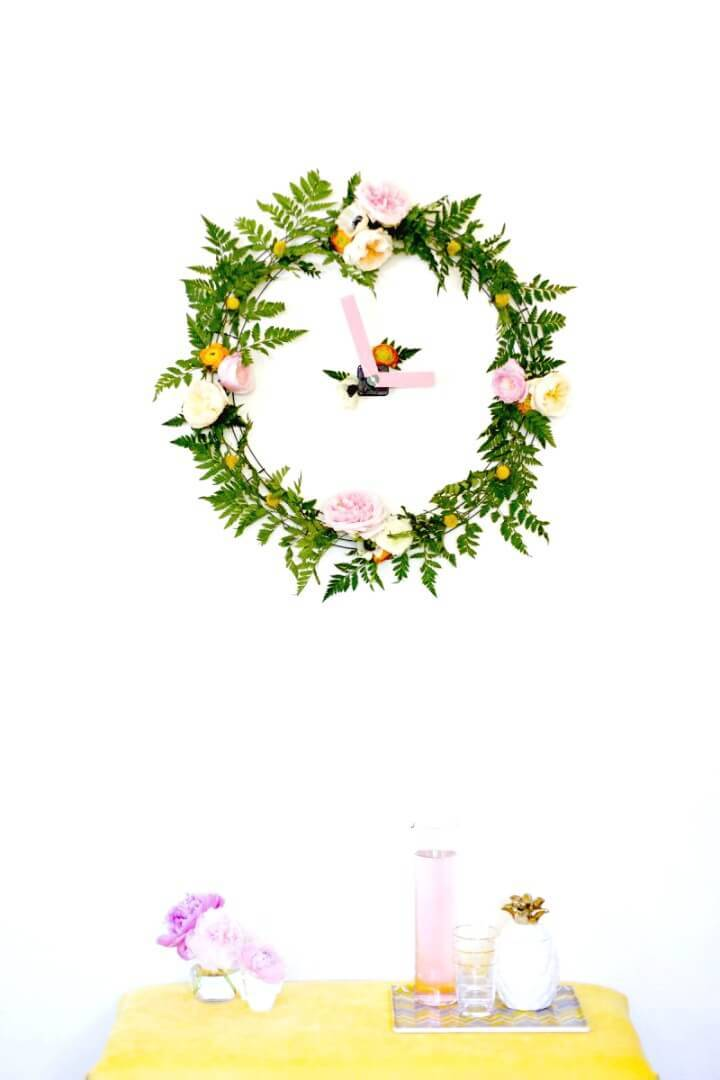 How to Make Your Own Floral Wall Clock Tutorial