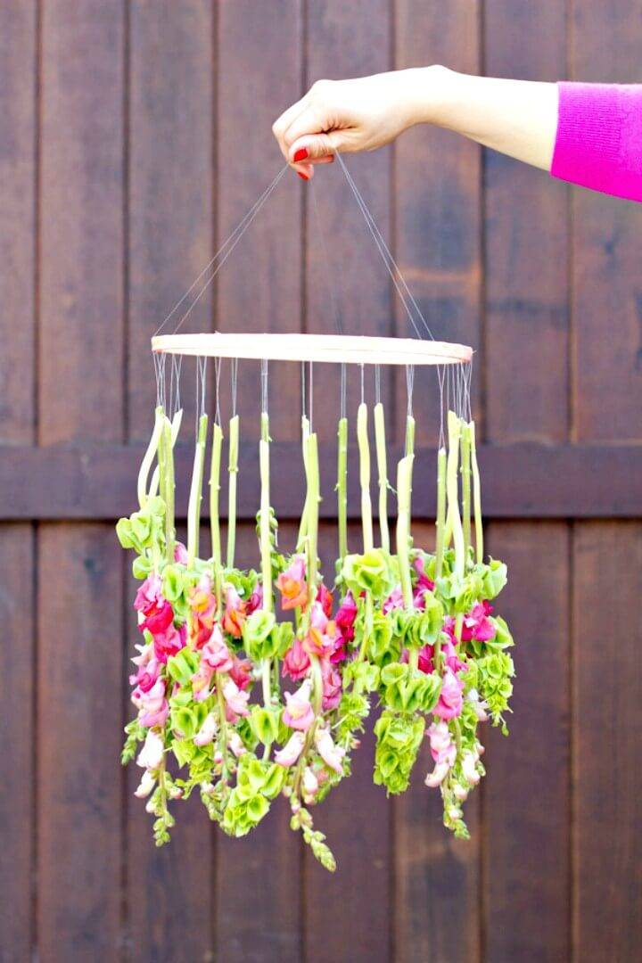 How to Make Your Own Hanging Flower Chandelier
