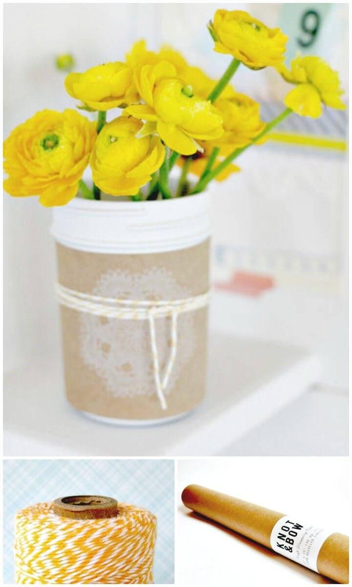 Make Your Own Mason Jar Centerpiece - DIY Mason Jars for Spring & Summer