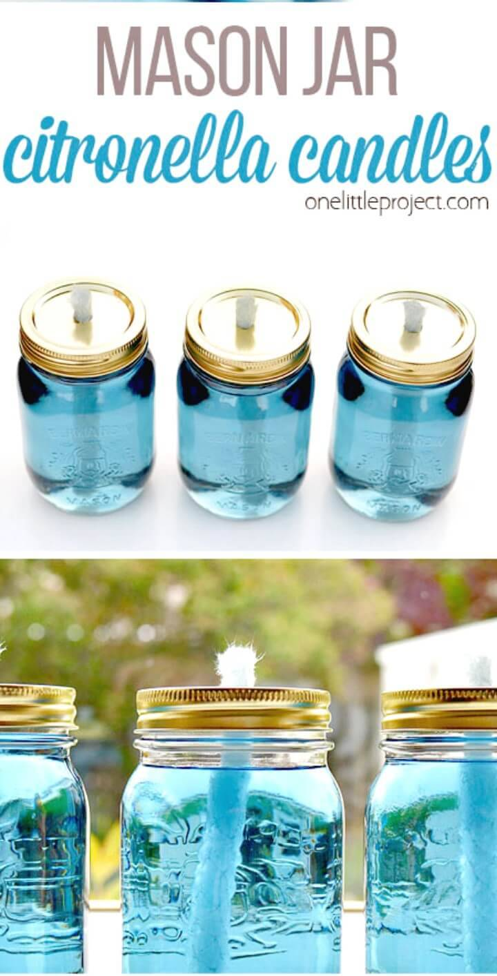 Make Your Own Mason Jar Citronella Candles - DIY Mason Jars for Spring & Summer