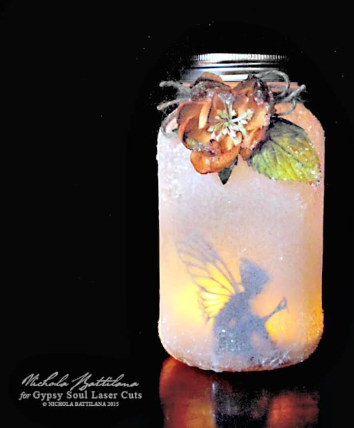 Make Your Own Mason Jar Fairy Lantern -  DIY