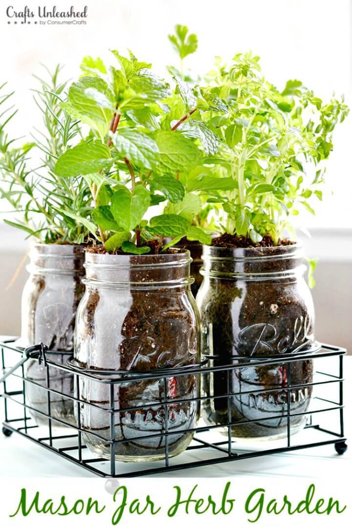 Make Your Own Mason Jar Herb Garden - DIY Mason Jars for Spring & Summer