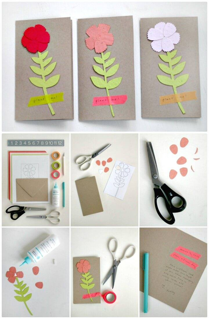 Simple How to Make Your Own Plant A Flower Day Card For Spring