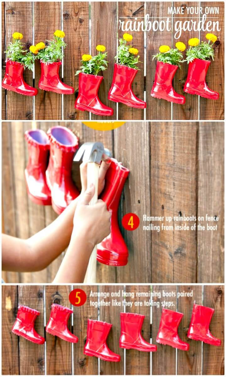 Make Your Own Rainboot Garden - DIY