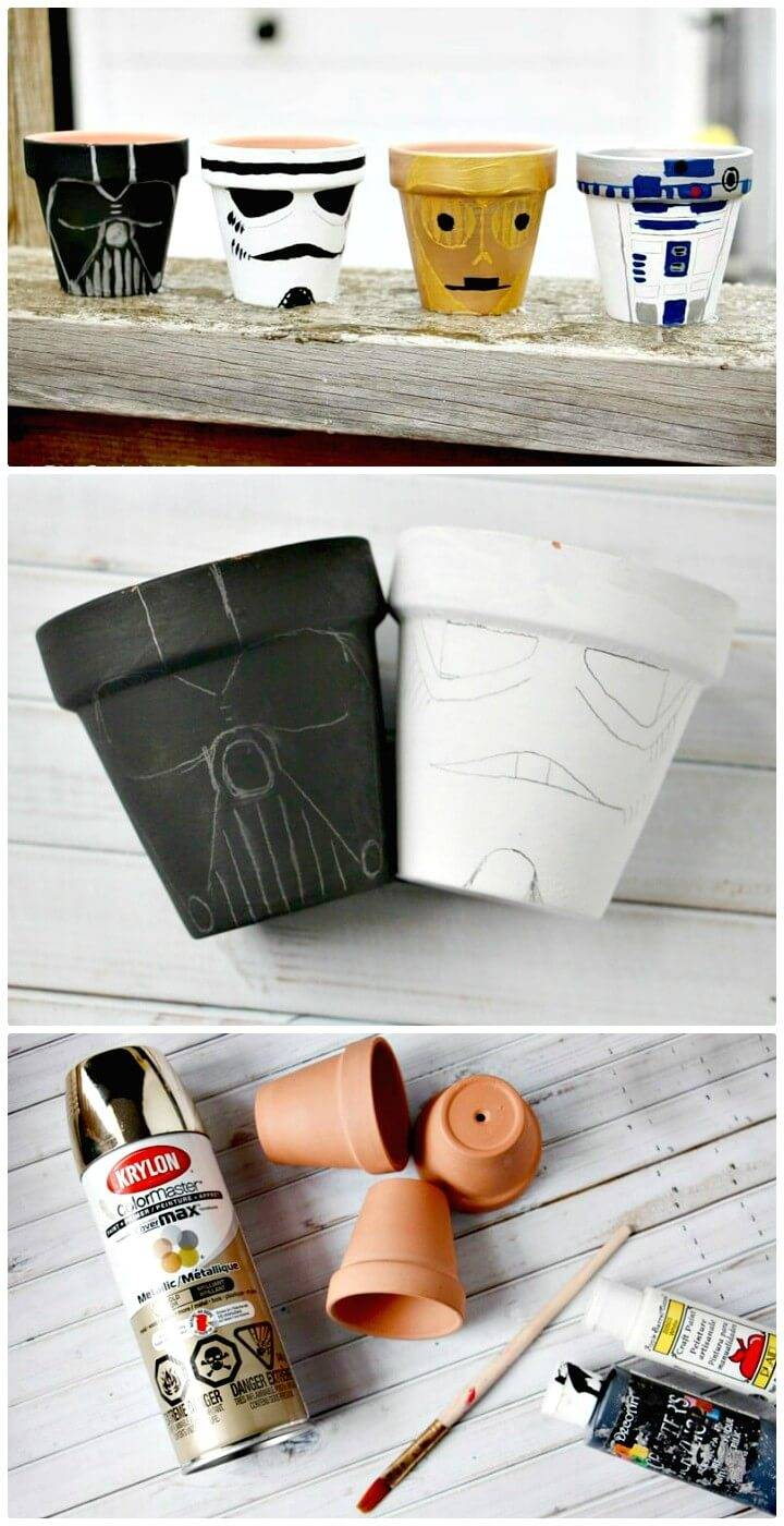 Make Your Own Star Wars Garden Pots - DIY