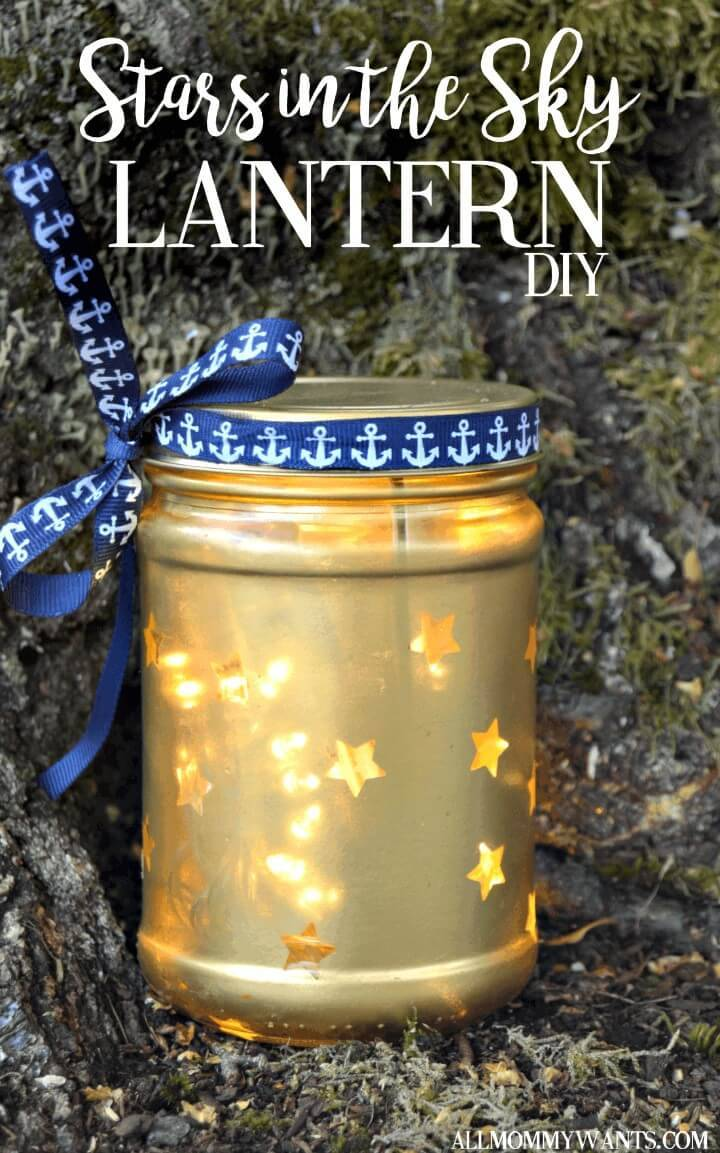 Make Your Own Stars In The Sky Lantern - DIY Mason Jars Crafts