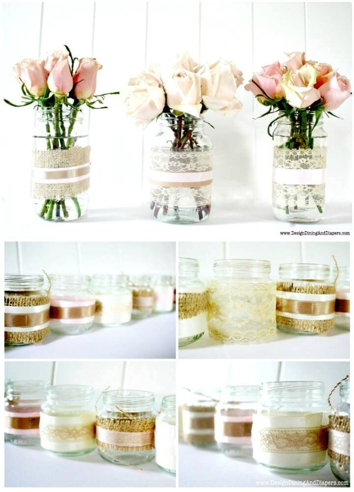Easy Make Your Own Vases And Votive Candles From Recycled Jars