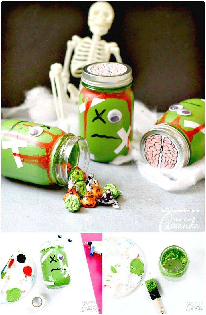 Make Your Own Zombie Mason Jars - DIY