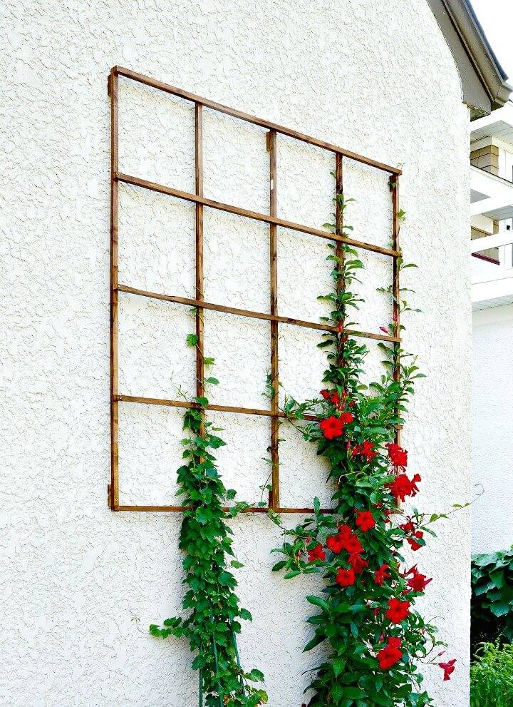 How To Build Grid Trellis from Garden Stakes - DIY