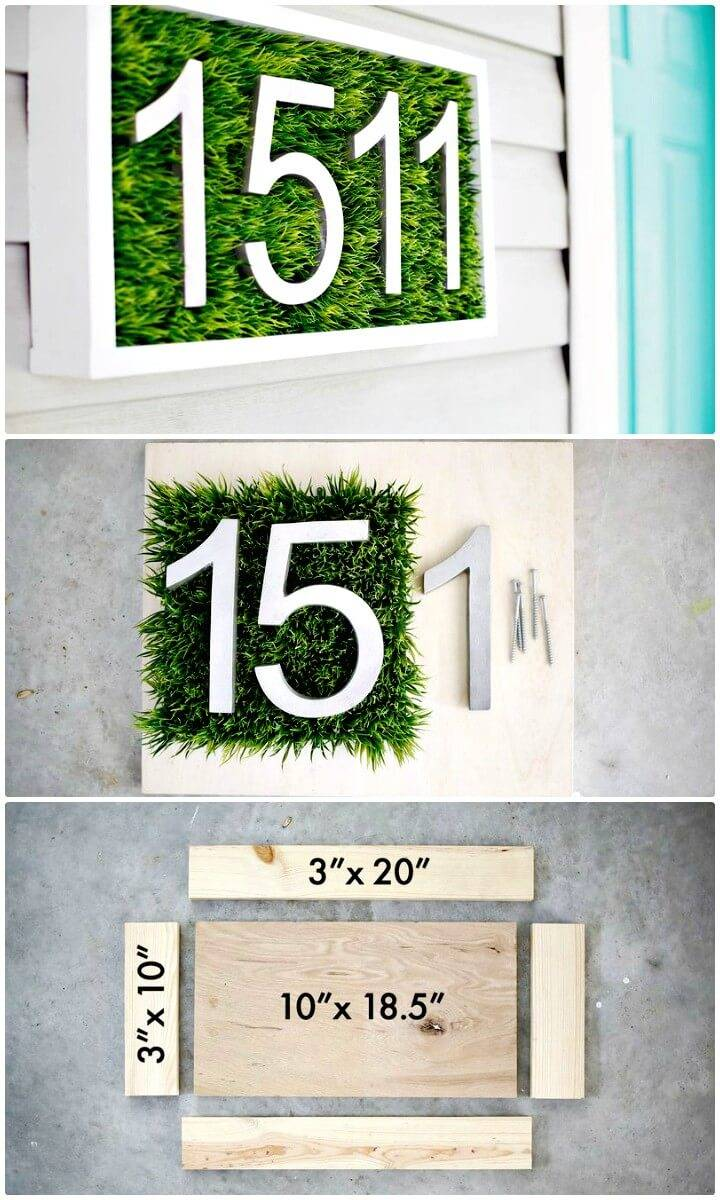 Modern How To DIY House Number Tutorial