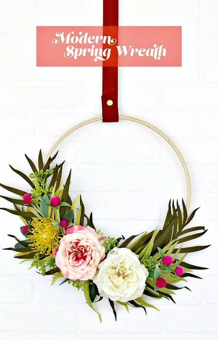 Modern How To Make Your Own Spring Wreath