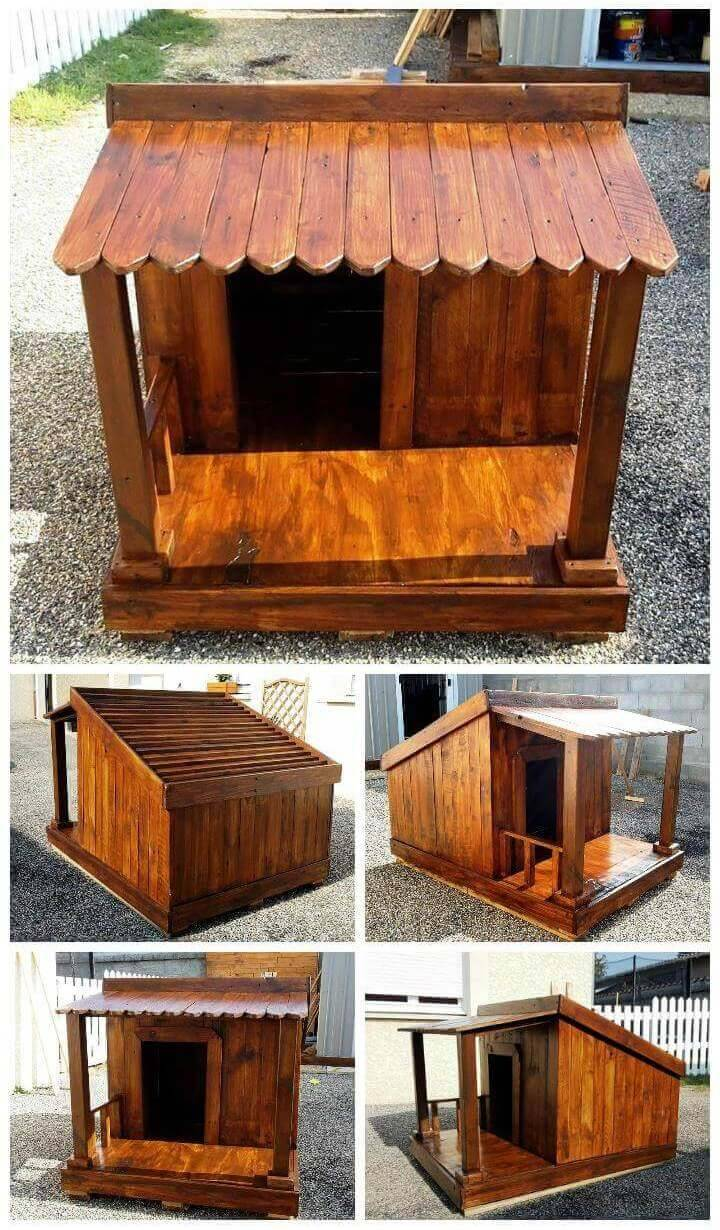 Pallet Dog House – Step by Step DIY Dog House Plan - Pallet Projects - Pallet Furniture - Pallet Ideas