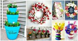 101 Easy DIY Spring Craft Ideas and Projects - DIY Crafts - DIY Projects - Spring Crafts - Easy Craft Ideas - DIY Ideas for Spring Decor