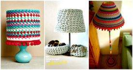 12 Free Crochet Lampshade Patterns to Light Up Your Home - DIY Lampshade Ideas - DIY Lampshades - Free Crochet Patters - Crochet Home Decor Projects - DIY Crafts - DIY Projects