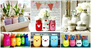 130 Easy Craft Ideas Using Mason Jars for Spring & Summer