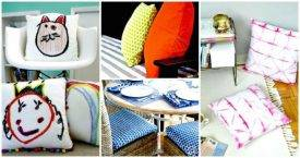 20 DIY Cushions or DIY Pillow Ideas To Upgrade Your Seating - DIY Crafts - DIY Home Decor Ideas - DIY Projects - Easy DIY Ideas