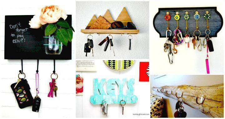 25 Easy DIY Key Holders and Rack Ideas - Wooden Key Rack Ideas - DIY Key Holder Ideas - DIY Crafts - DIY Projects - DIY Home Decor Ideas - WALL decor