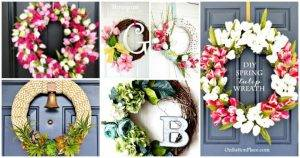 25 Easy DIY Spring Wreath Ideas - DIY Wreaths - DIY Crafts - DIY Projects