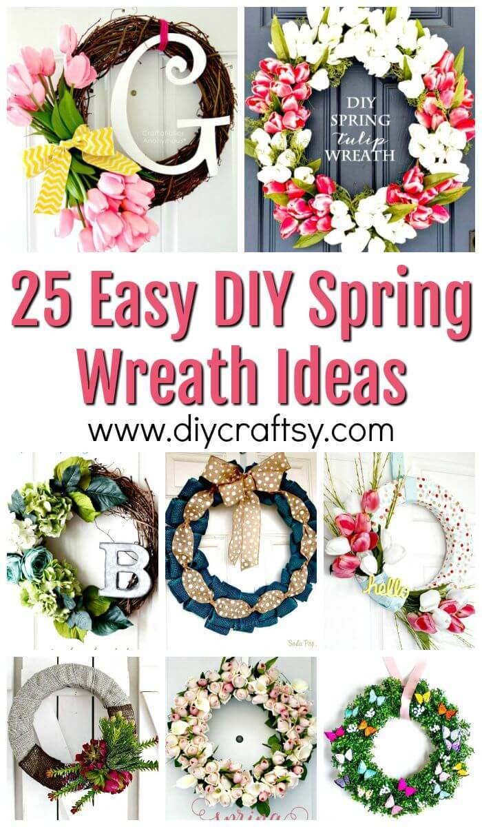 DIY Spring Wreath Ideas - DIY Wreaths - DIY Crafts - DIY Projects - DIY Wreath Ideas
