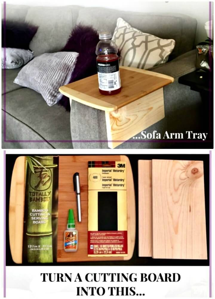 Quick Make A Sofa Arm Table