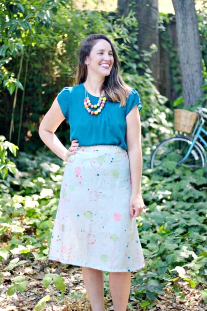 Adorable DIY 1 Hour A-line Skirt Tutorial