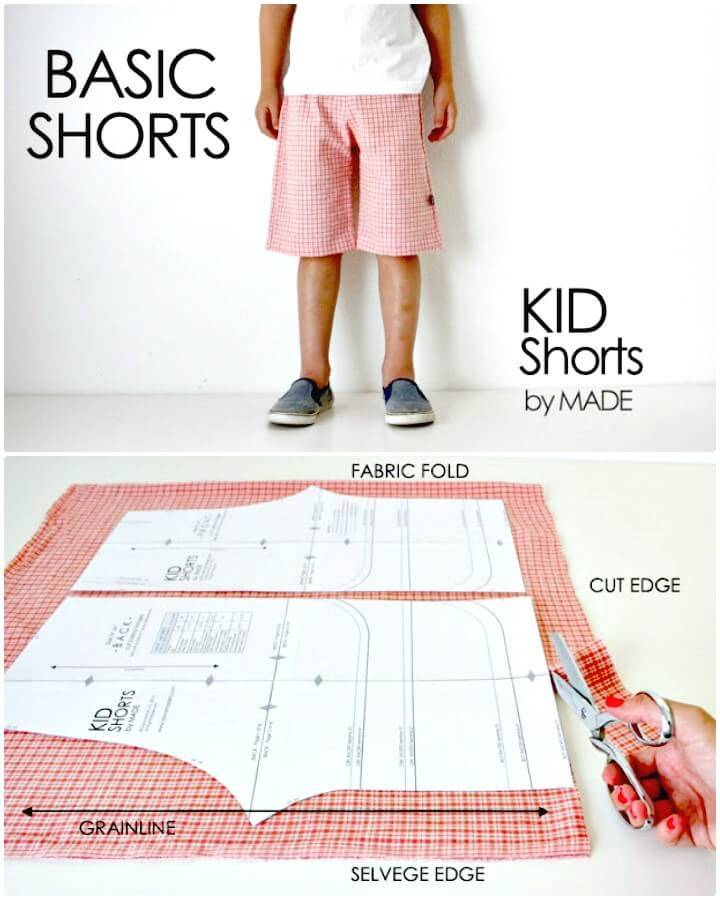Adorable DIY Basic Kid Shorts