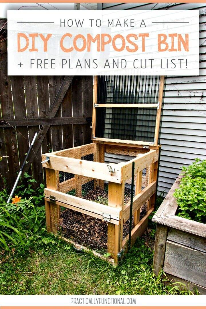 How to Make a Compost Bin - Free DIY Wooden Plan