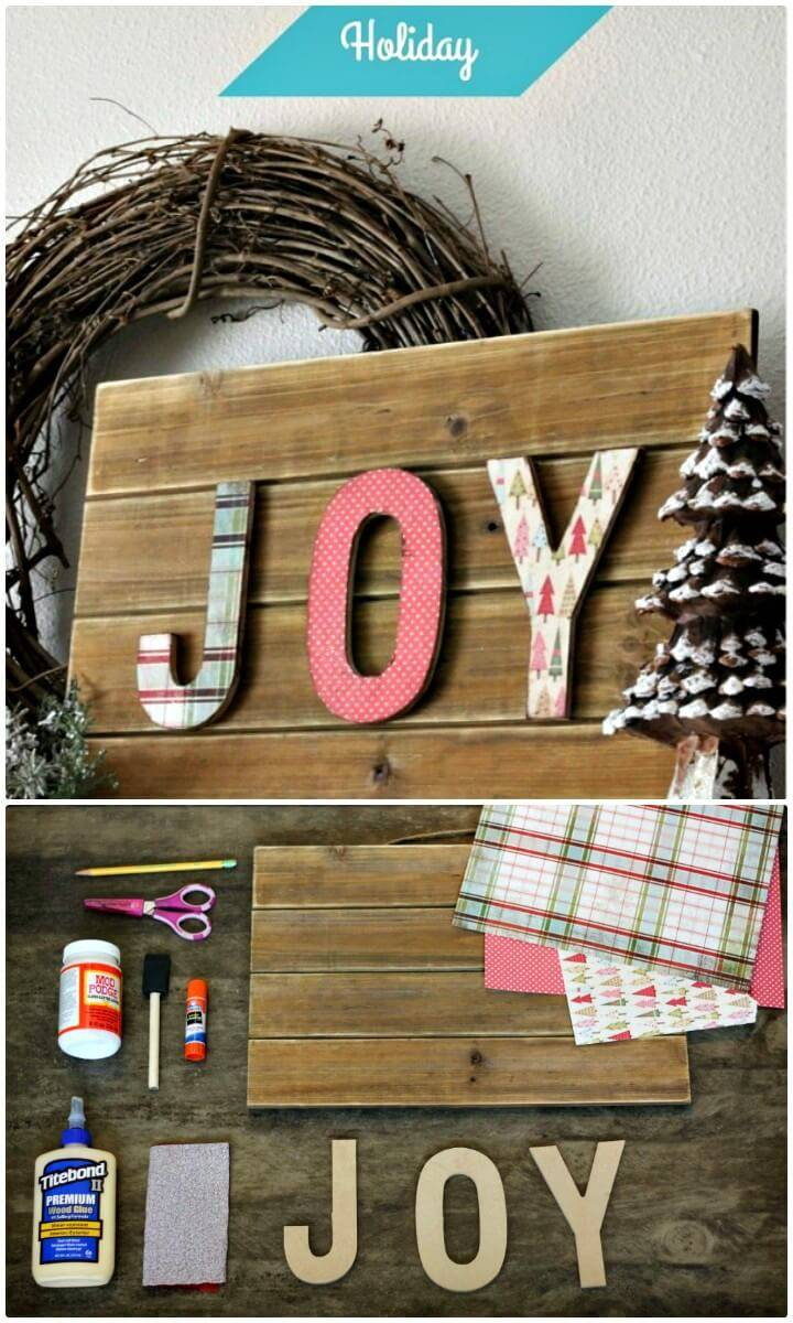 Adorable DIY Dimensional Letter Holiday Sign