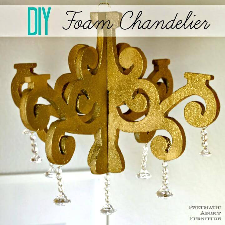 How to Make Foam Chandelier + Giveaway