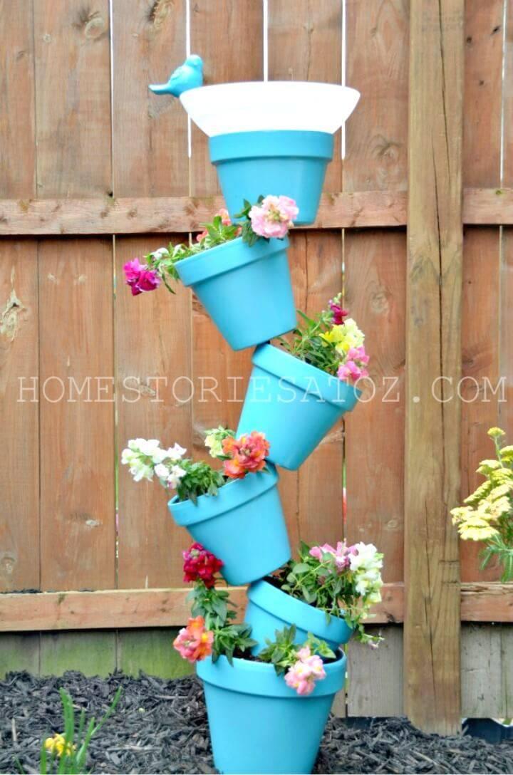 How to DIY Garden Planter & Birds Bath - Backyard Ideas