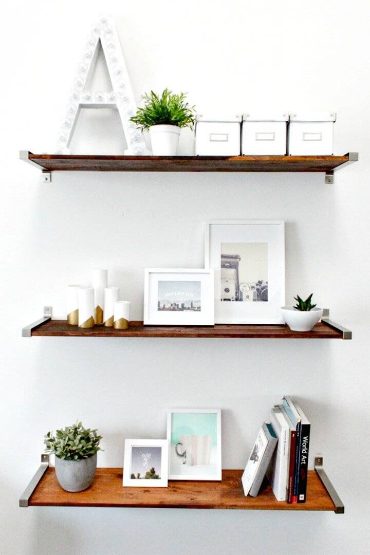 DIY Ikea Hack Distressed Wooden Shelves
