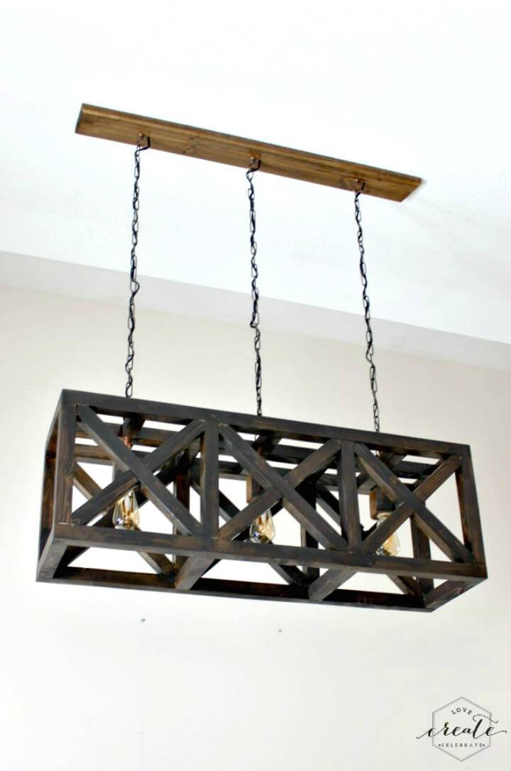 Adorable Industrial Pendant Light Chandelier - DIY Indoor Lighting Ideas