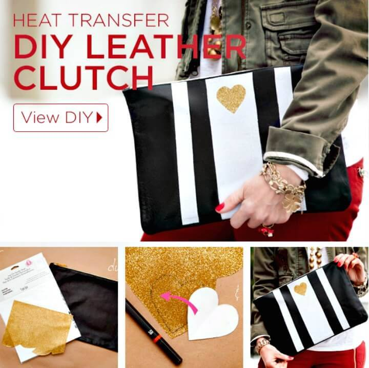 Adorable DIY Leather Clutch Tutorial