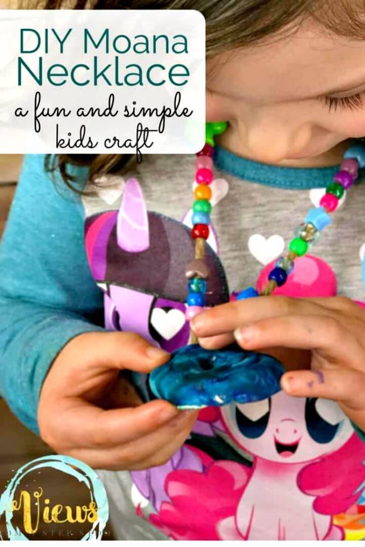 Adorable DIY Moana Necklace For Kids