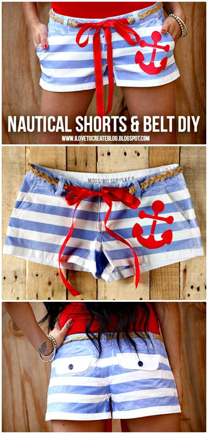Adorable DIY Nautical Sailor Shorts