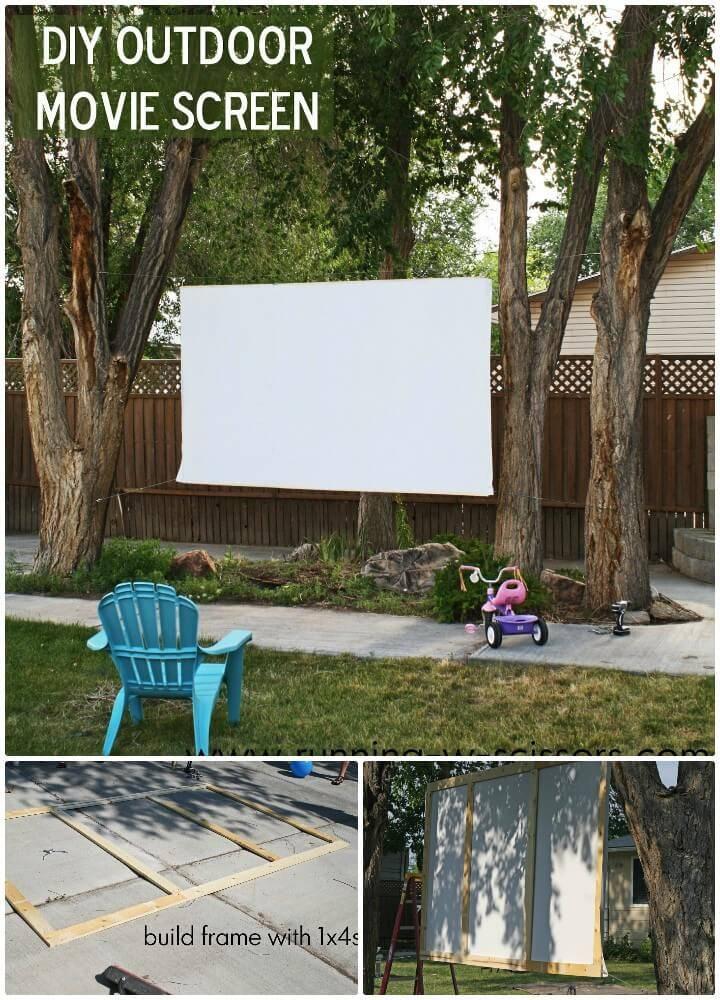 DIY Outdoor Movie Screen - Backyard Ideas