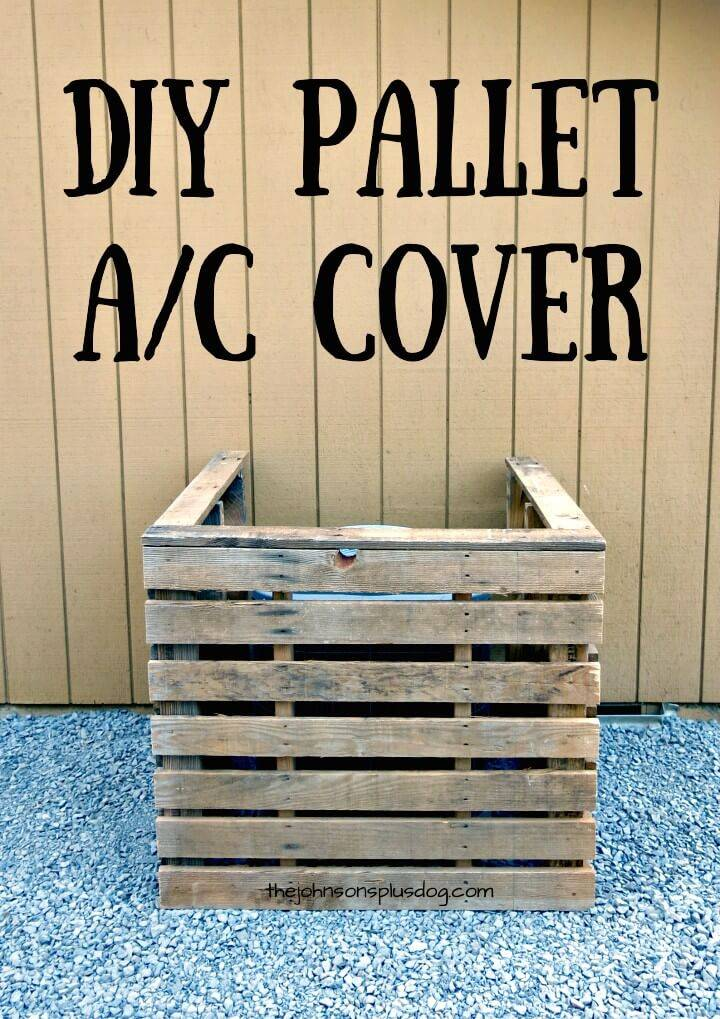 How to DIY Pallet AC Cover