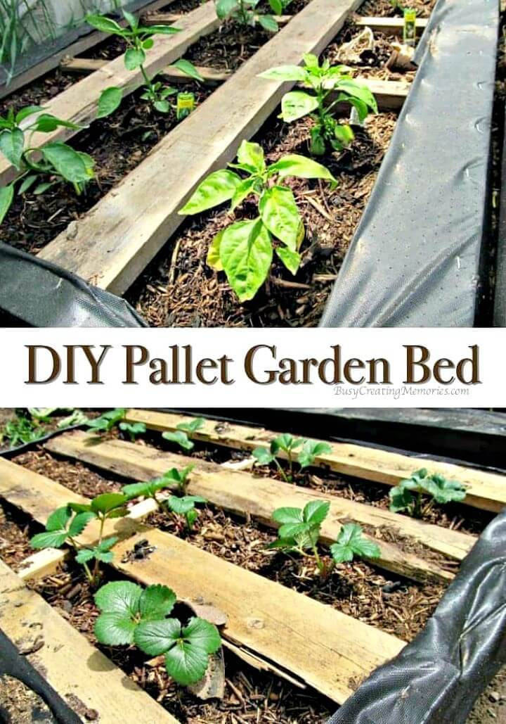 DIY Pallet Raised Wood Garden Bed