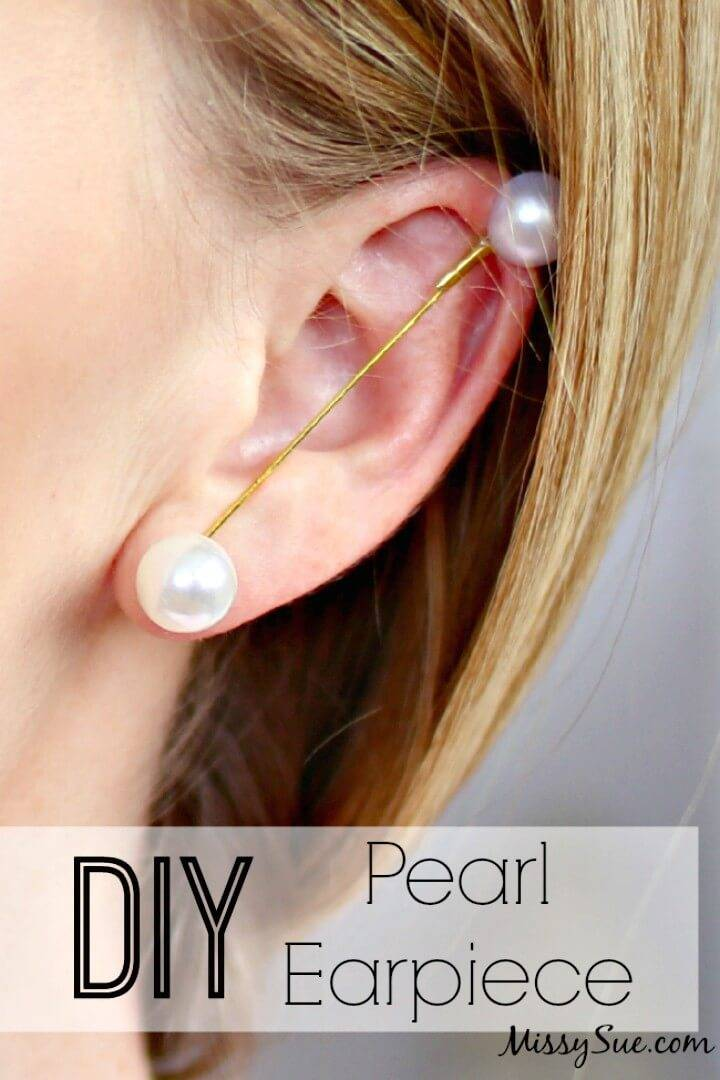 Quick DIY Pearl Earpiece
