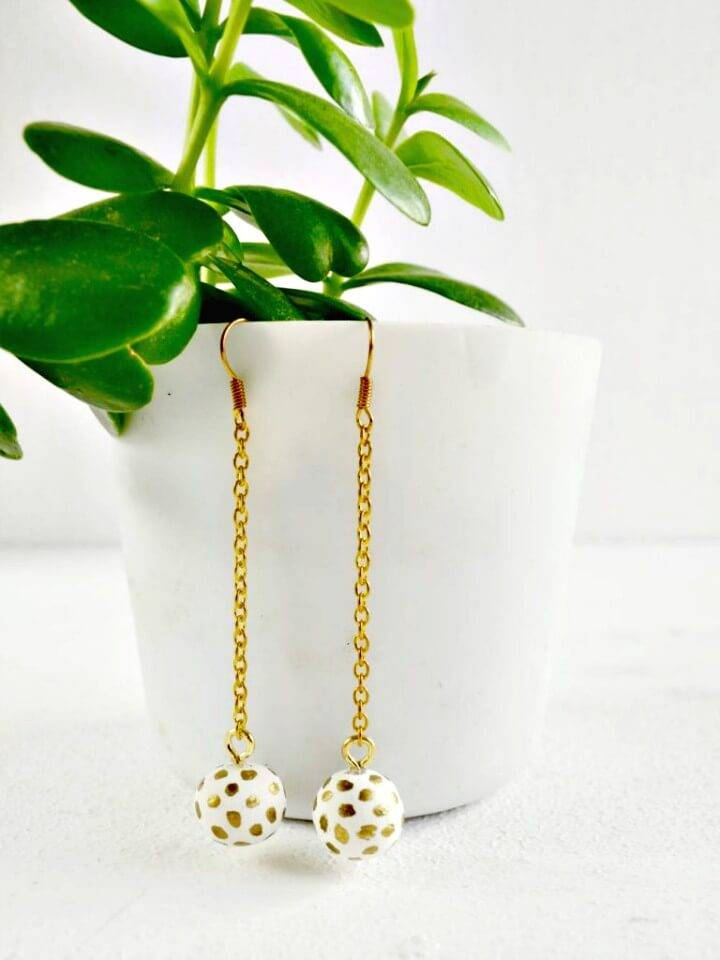 How to Make Polka Dot Clay Dangle Earrings - DIY
