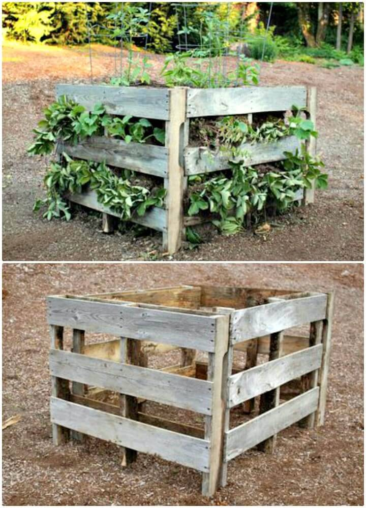 Adorable DIY Raised Beds From Pallets