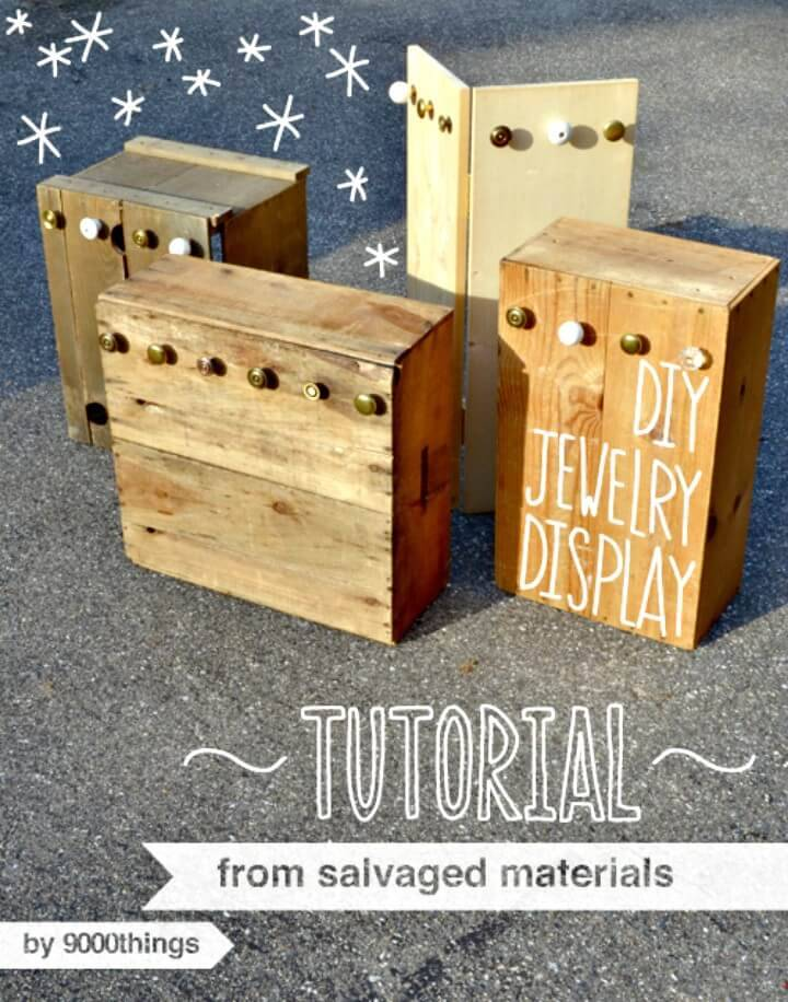 How to Make Salvaged Jewelry Display Tutorial
