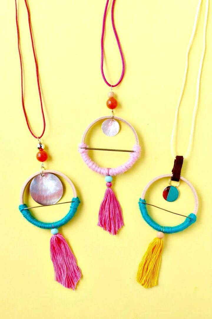 Adorable DIY Scandinavian Hoop Necklaces