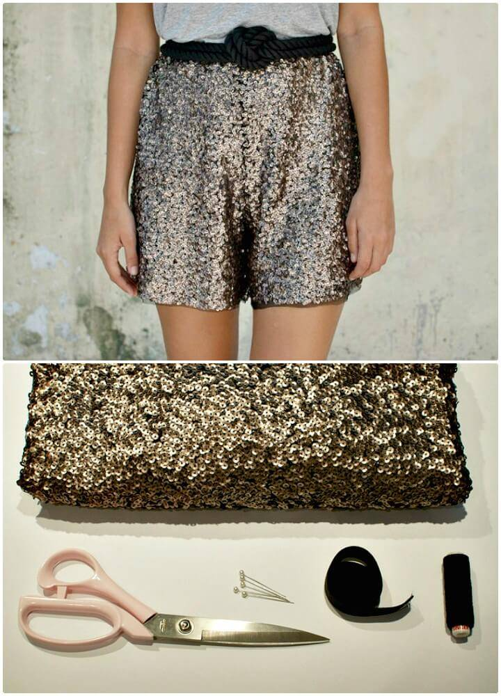 Adorable DIY Sequin Shorts Tutorial