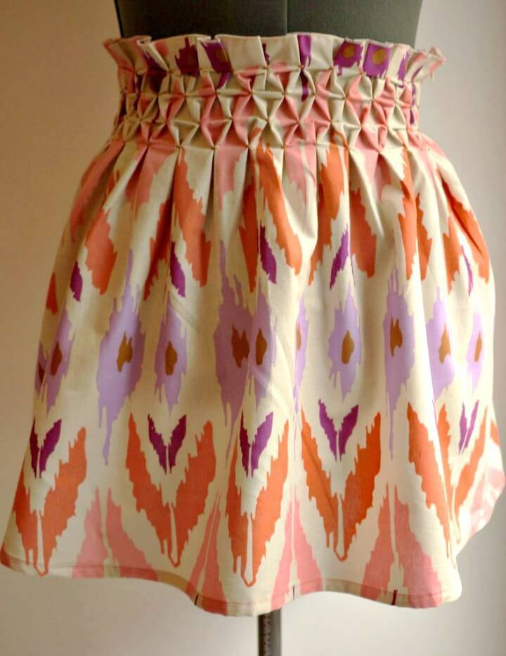 Adorable DIY Smocked Honeycomb Skirt