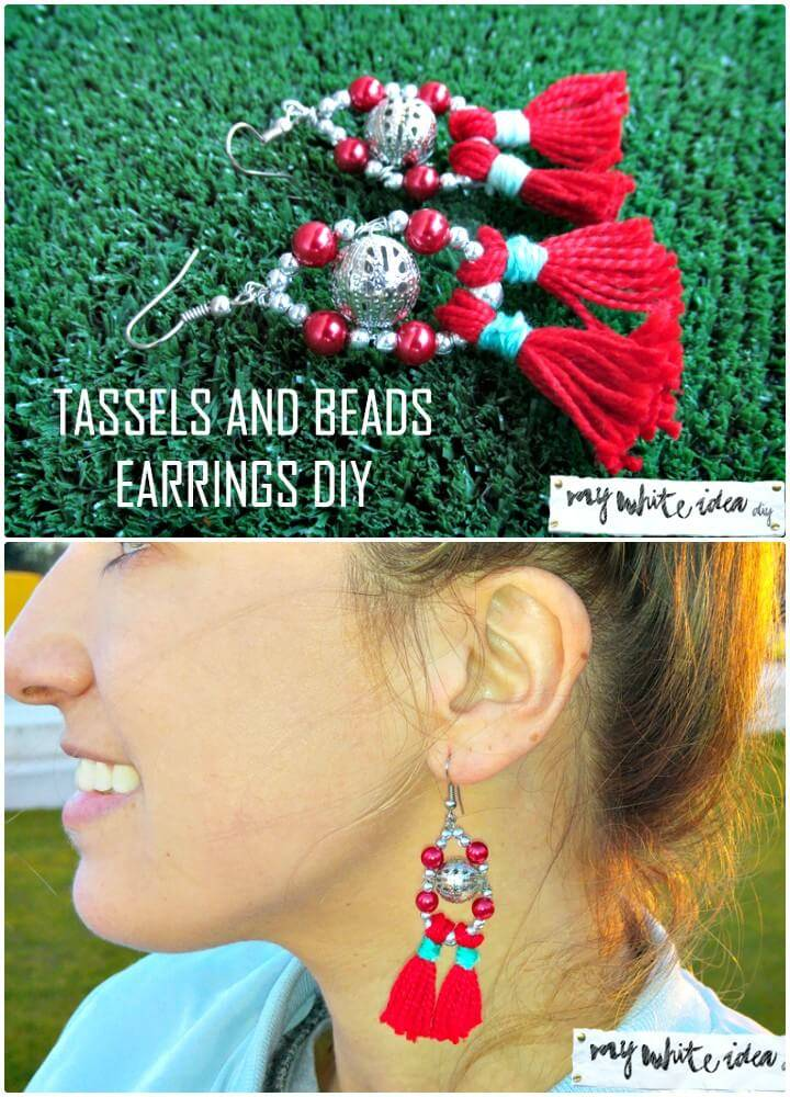 DIY Tassels & Beads Earrings