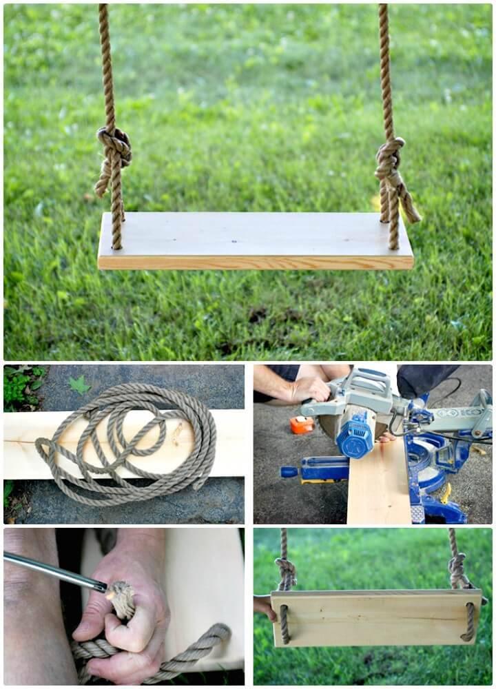 DIY Tree Swing - Backyard Ideas