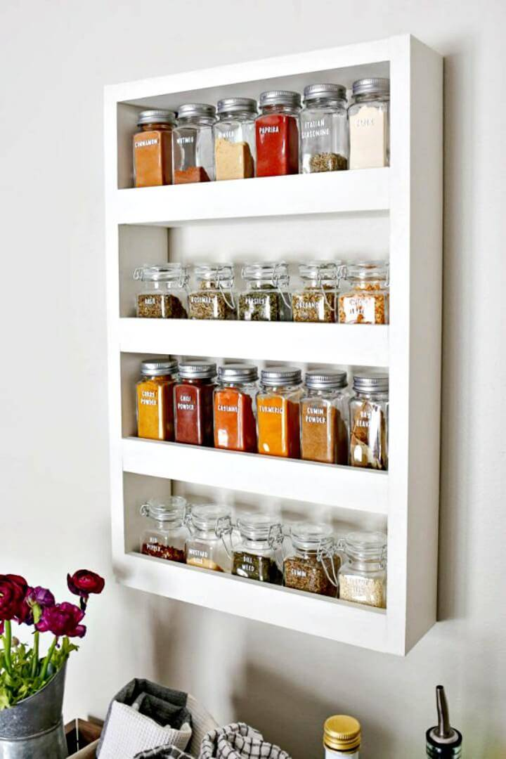 Adorable DIY Wall Spice Rack